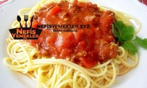 Kıymalı Spagetti Tarifi