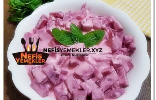 Yoğurtlu Kırmızı Pancar Salatası Tarifi